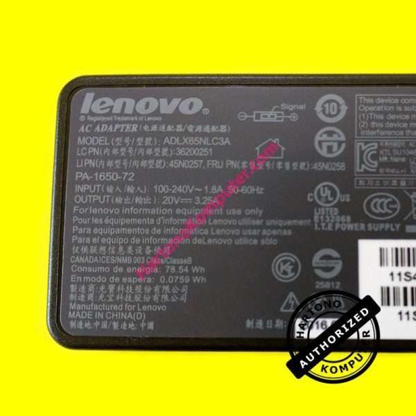 Charger Lenovo 20V 3.25A Square Mouth-449