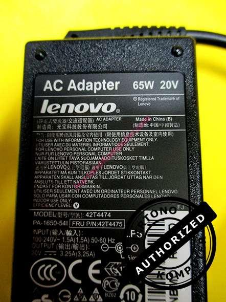 Charger Lenovo 20V 3.25A Pin-204